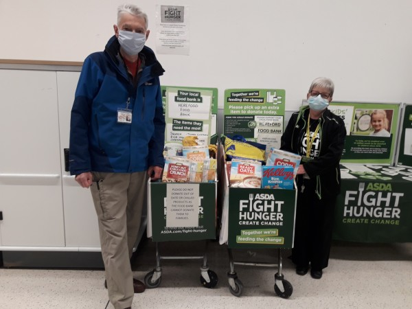 Hereford Food Bank thanks Asda Hereford for support