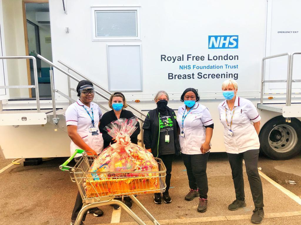 Breast screening units in car park | Asda Leyton Mills
