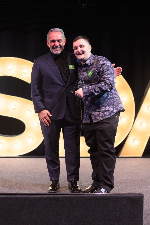 Our fantastic colleague Andrew from our Stenhousemuir store wins customer hero award at Being Asda Awards