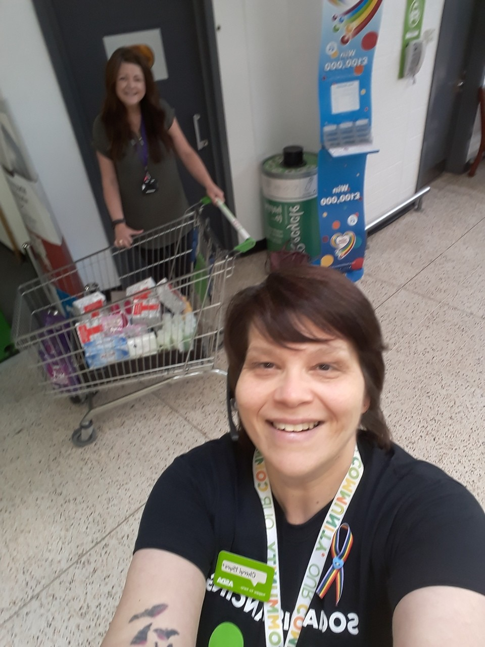 Goods donation to community hub | Asda Golborne