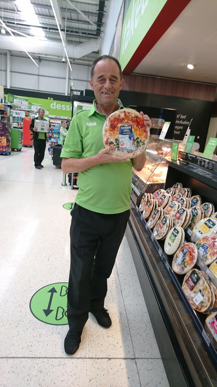 Rainbow Pizzas on sale at Filton | Asda Filton