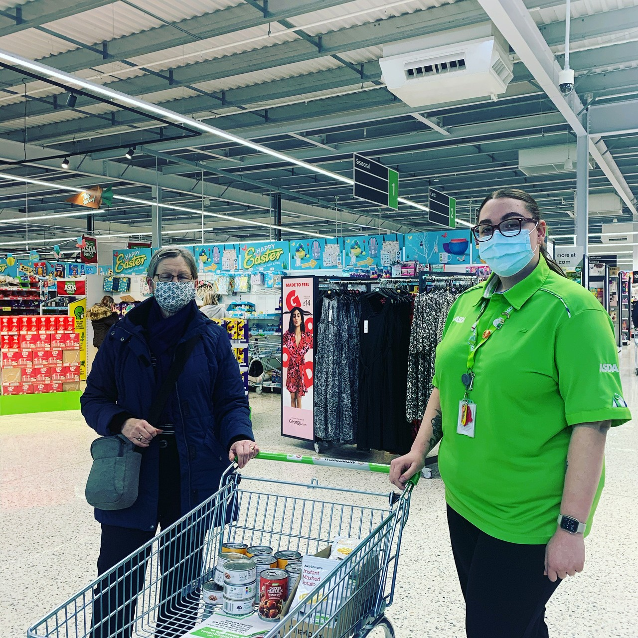 Another amazing food bank donation   Asda Worksop