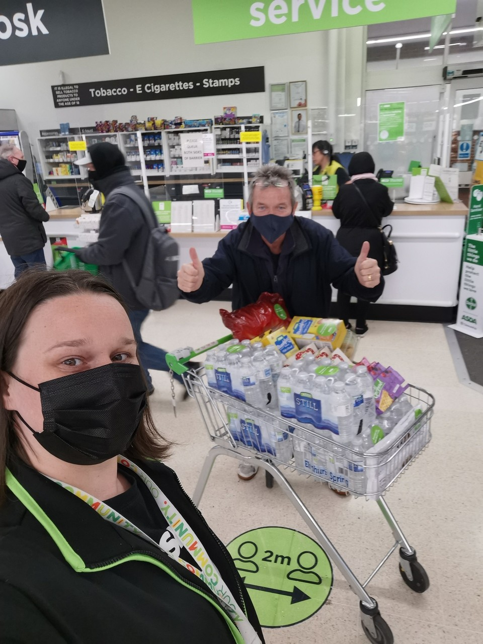 Supporting vaccination centre volunteers | Asda Wythenshawe