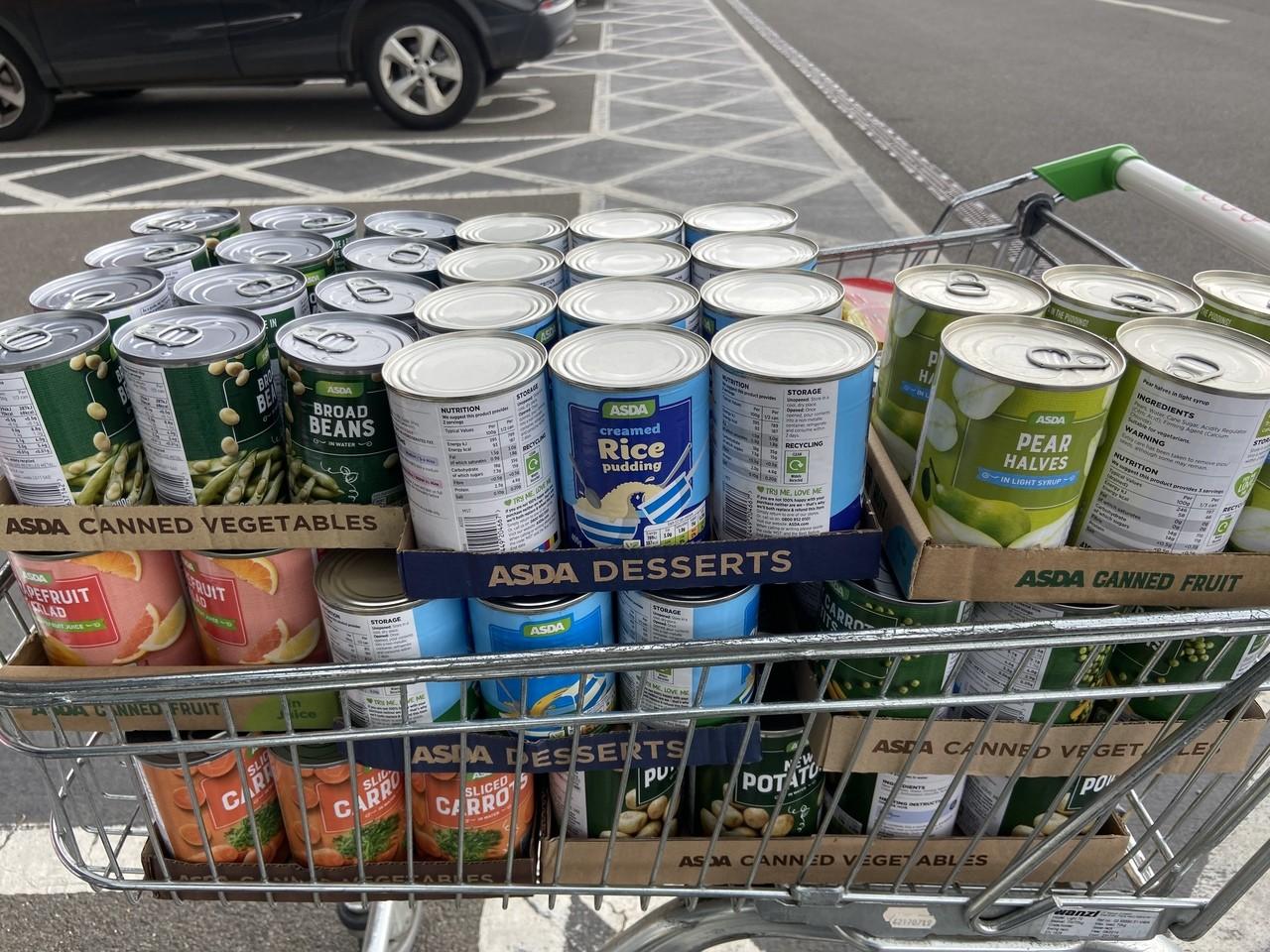 The Need Project food bank donation | Asda Biggleswade