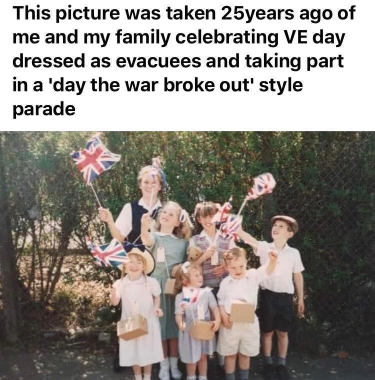 Frans memories of .V.E Day celebrations 25 years ago . | Asda Longwell Green