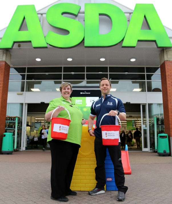 Paul Colling collecting for Help for Heroes at Asda Farnborough