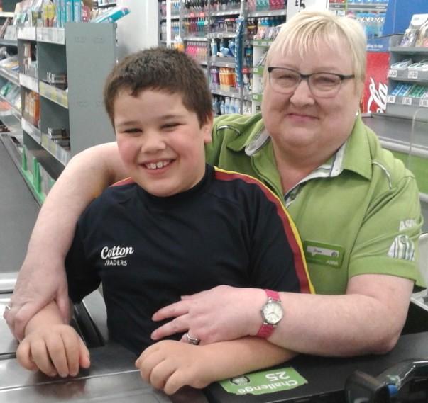 Customer Joe and colleague Joan at Asda Gosforth