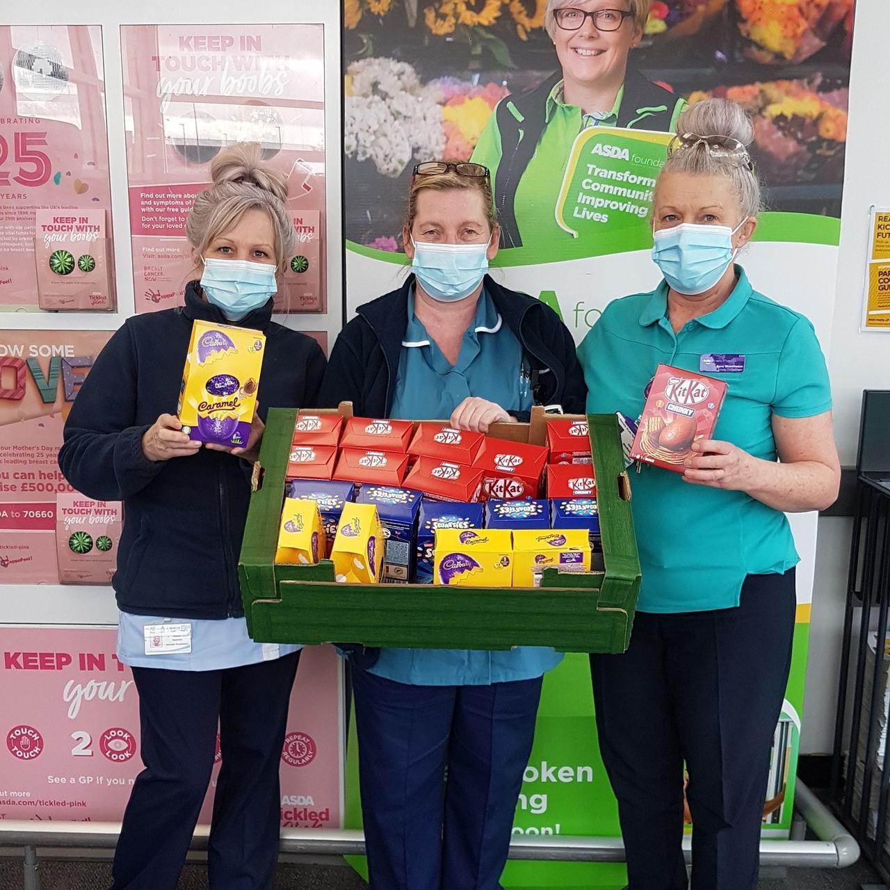 Easter eggs for hospital | Asda Pilsworth