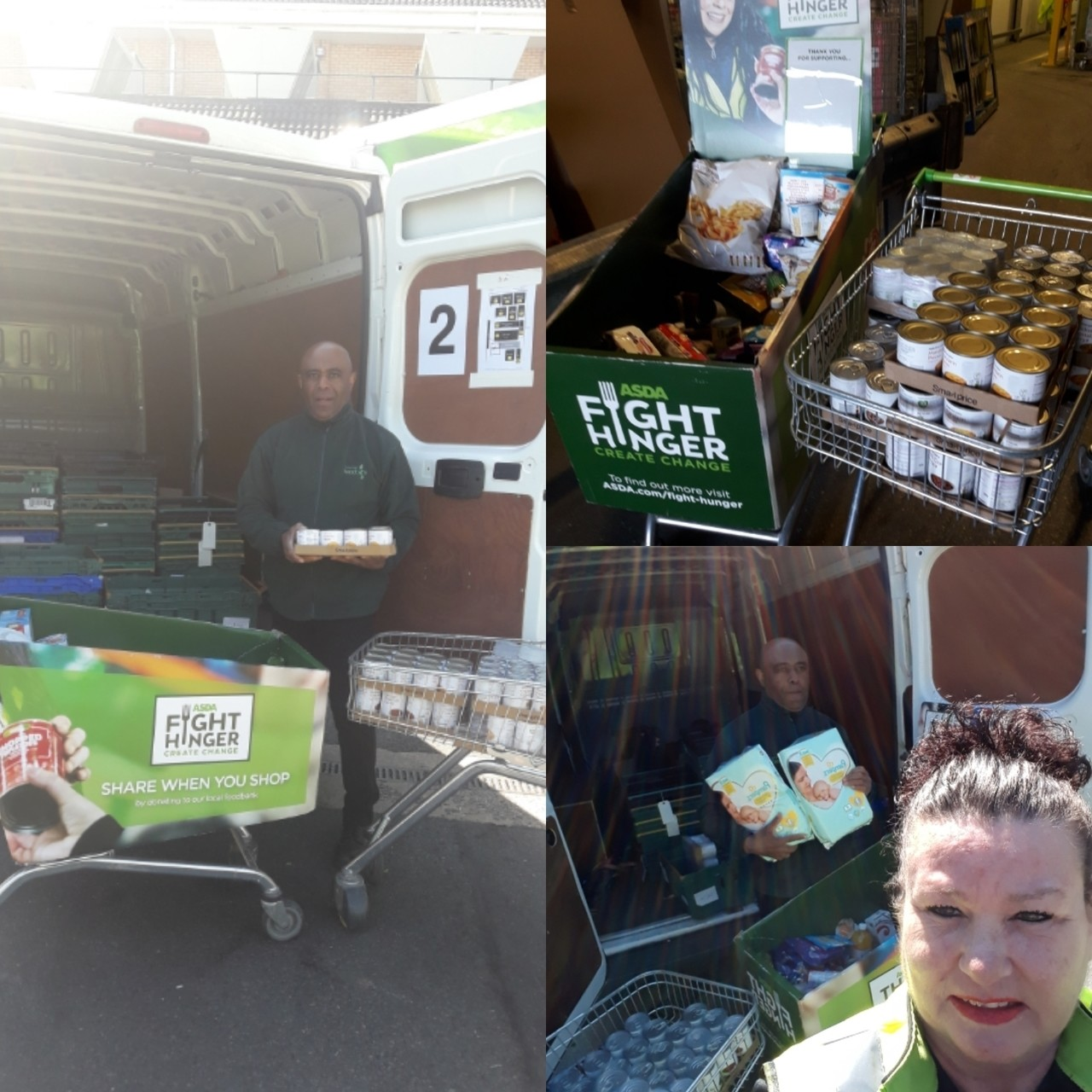 Donation of much-needed supplies | Asda Peterborough