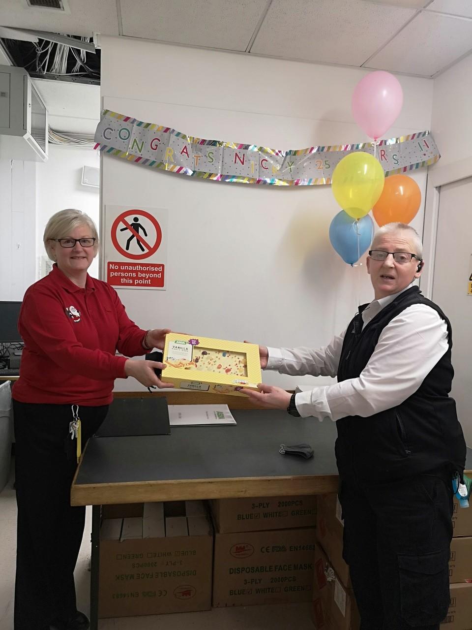 Nikki celebrates 25 years' service | Asda Elgin