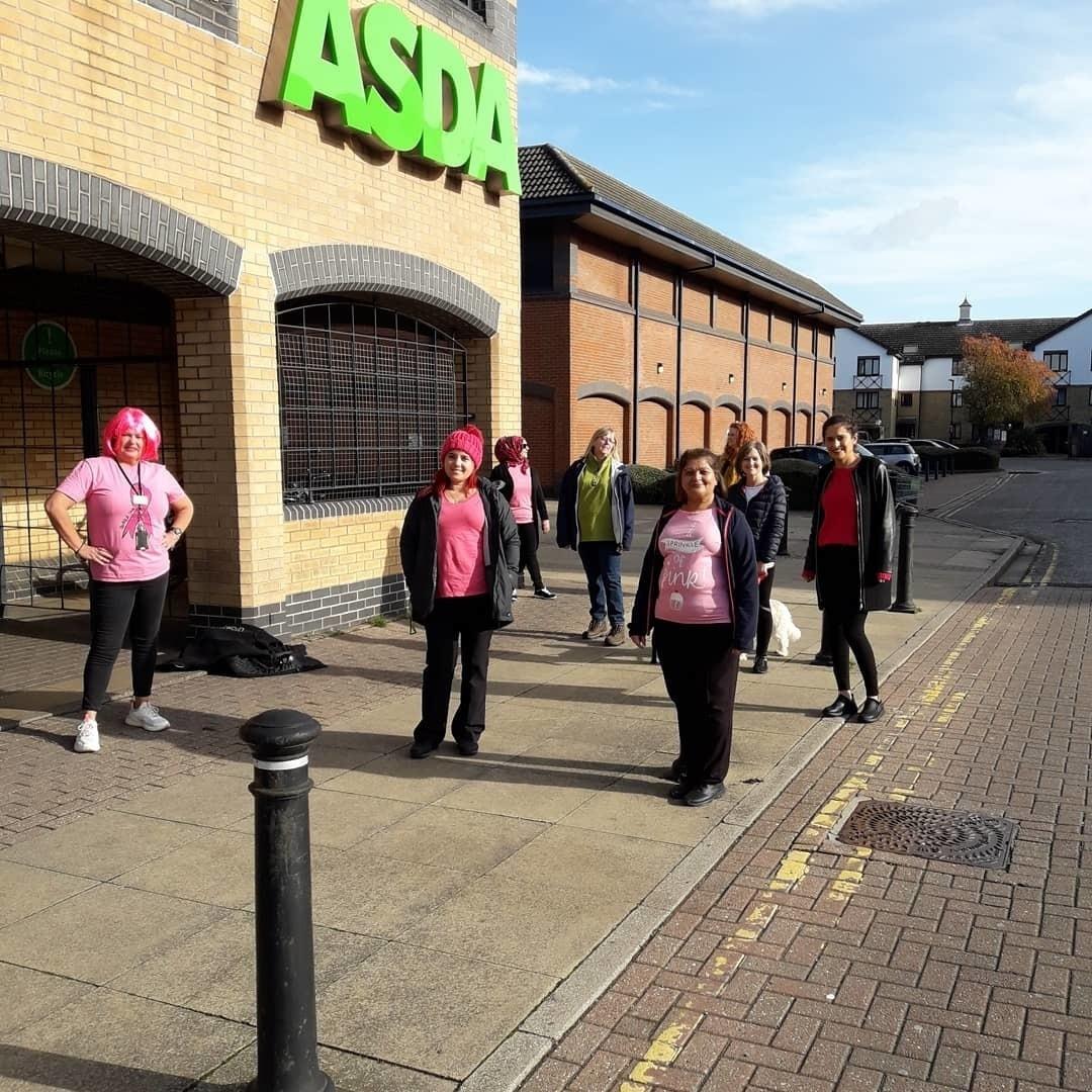 Tickled Pink walk | Asda Peterborough