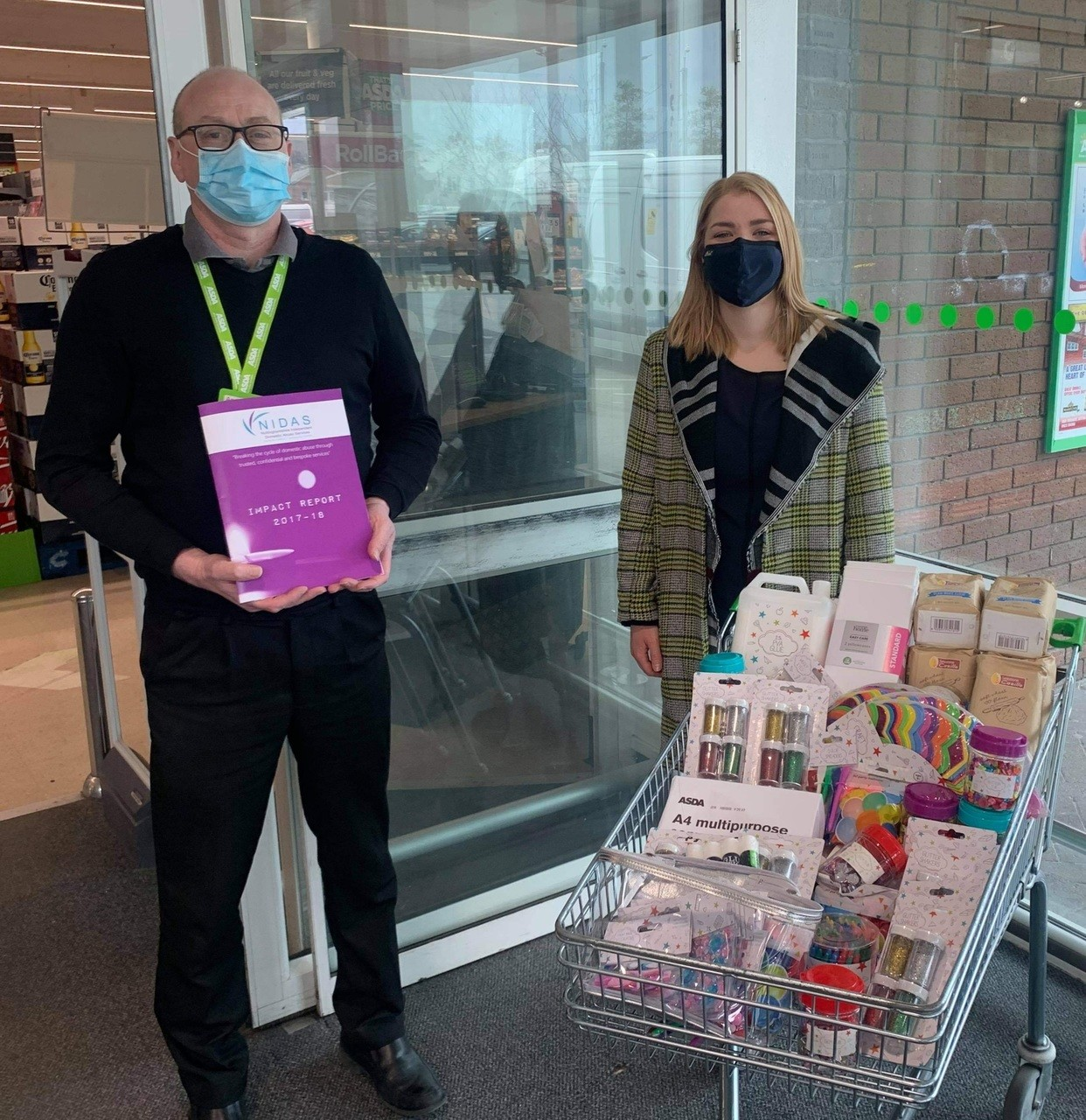 Supporting domestic abuse charity NIDAS | Asda Sutton in Ashfield