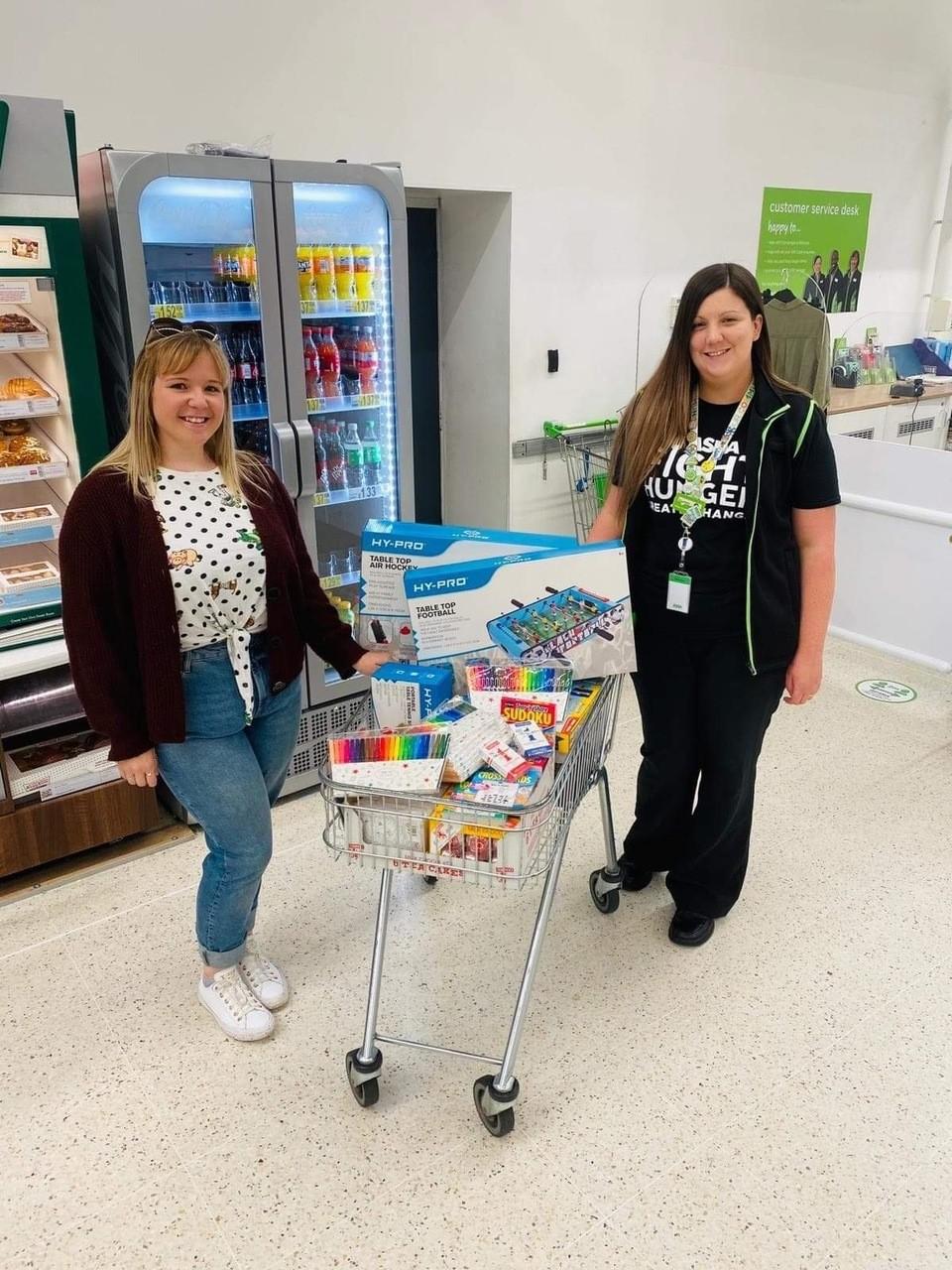 Donation to local care village   Asda Wigan