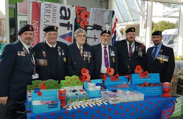 Royal British Legion collectors sell poppies at our Newport store