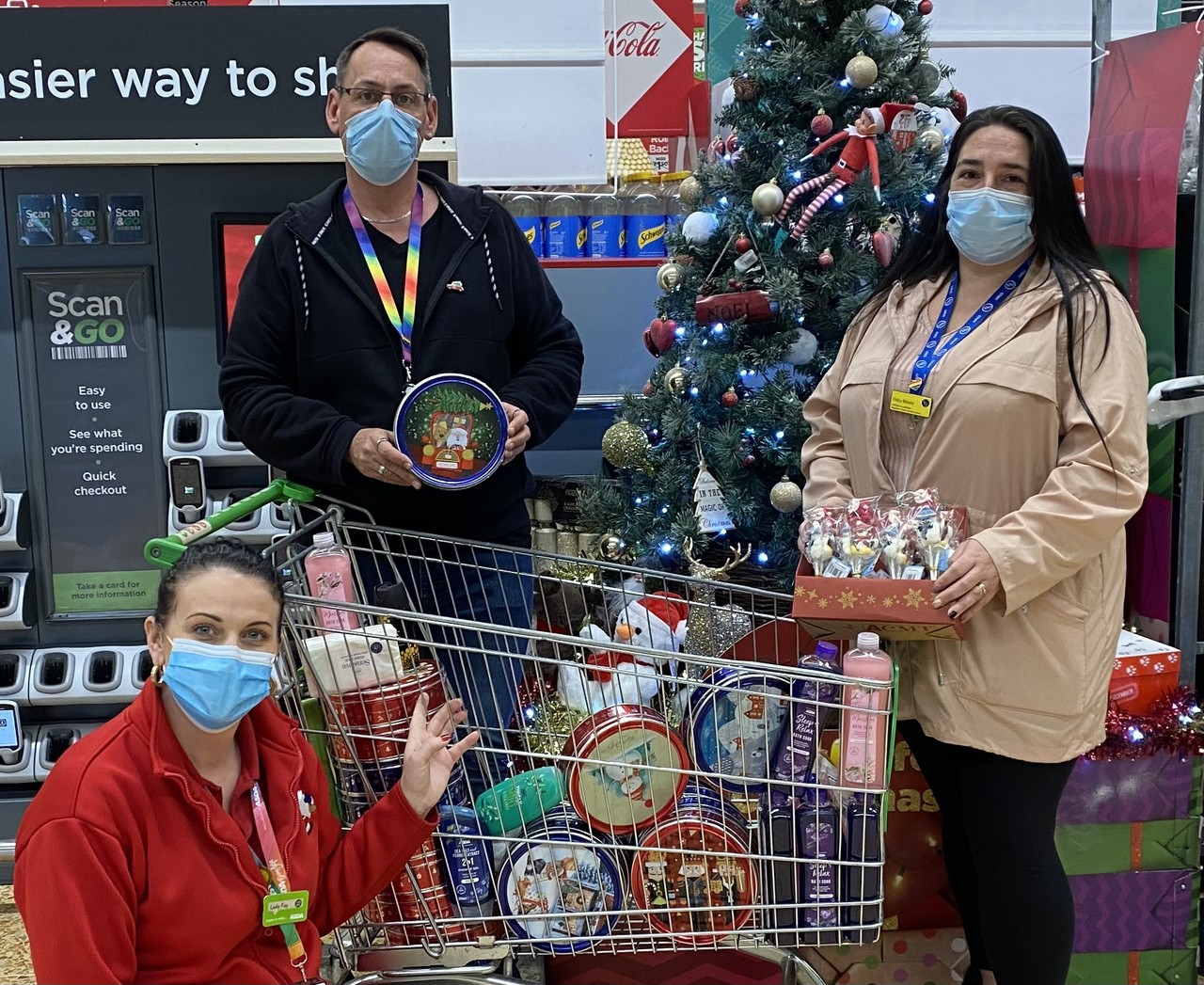 We put together Christmas treat boxes for elderly residents in Gloucester | Asda Gloucester