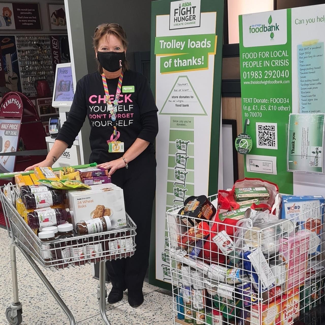 Foodbank donation | Asda Newport Isle of Wight