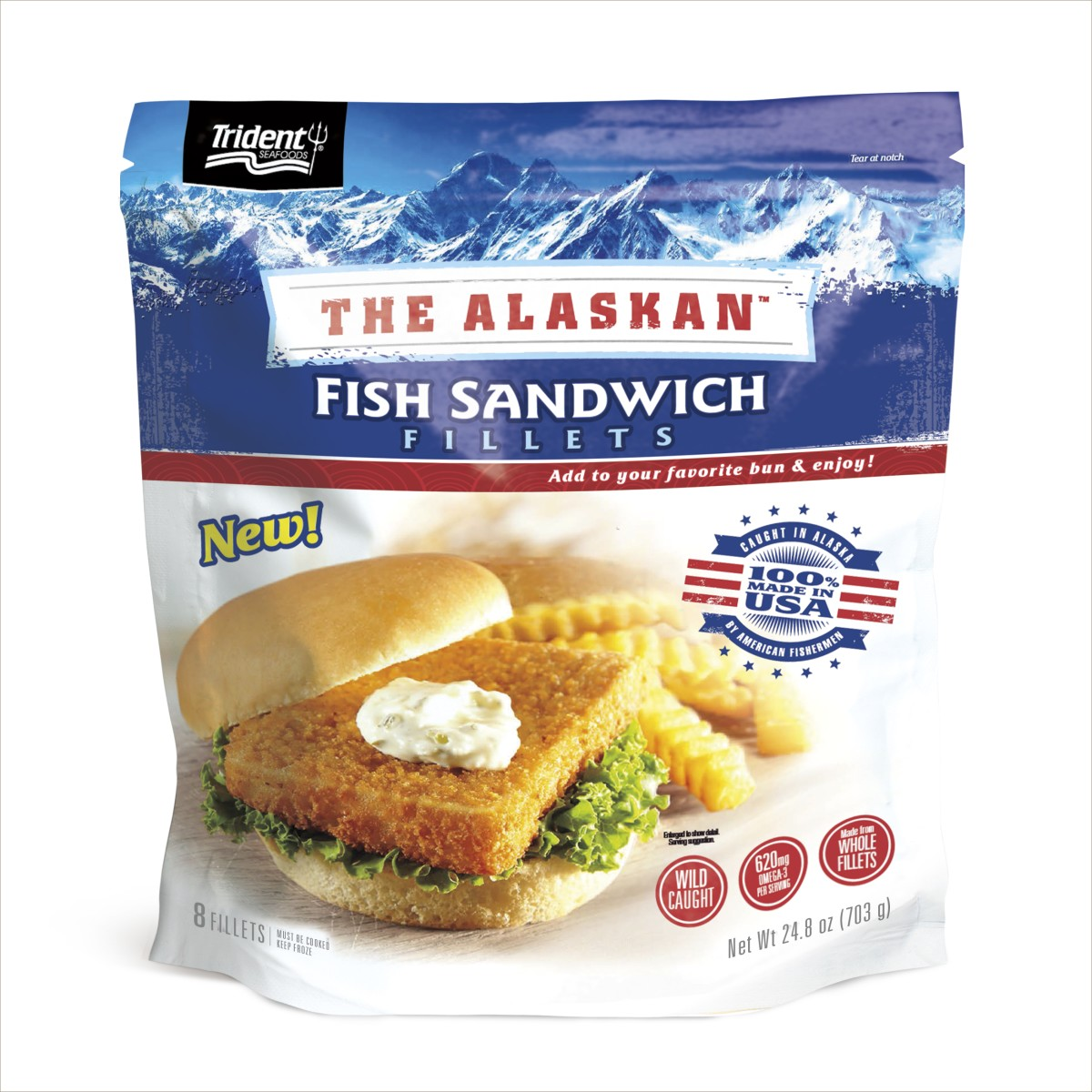 Trident seafoods fish sandwich fillets for Fish food walmart
