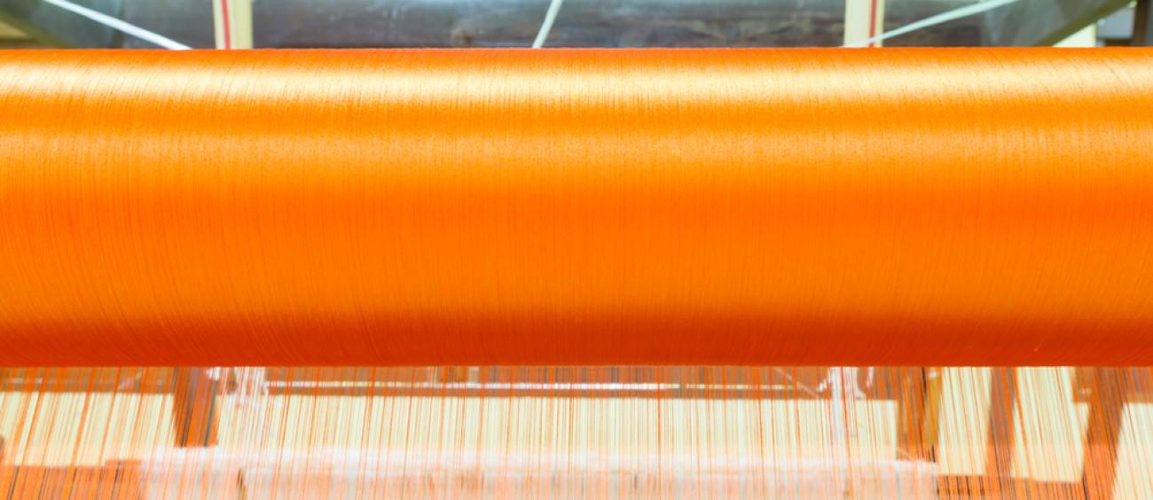 Orange Textile Spool