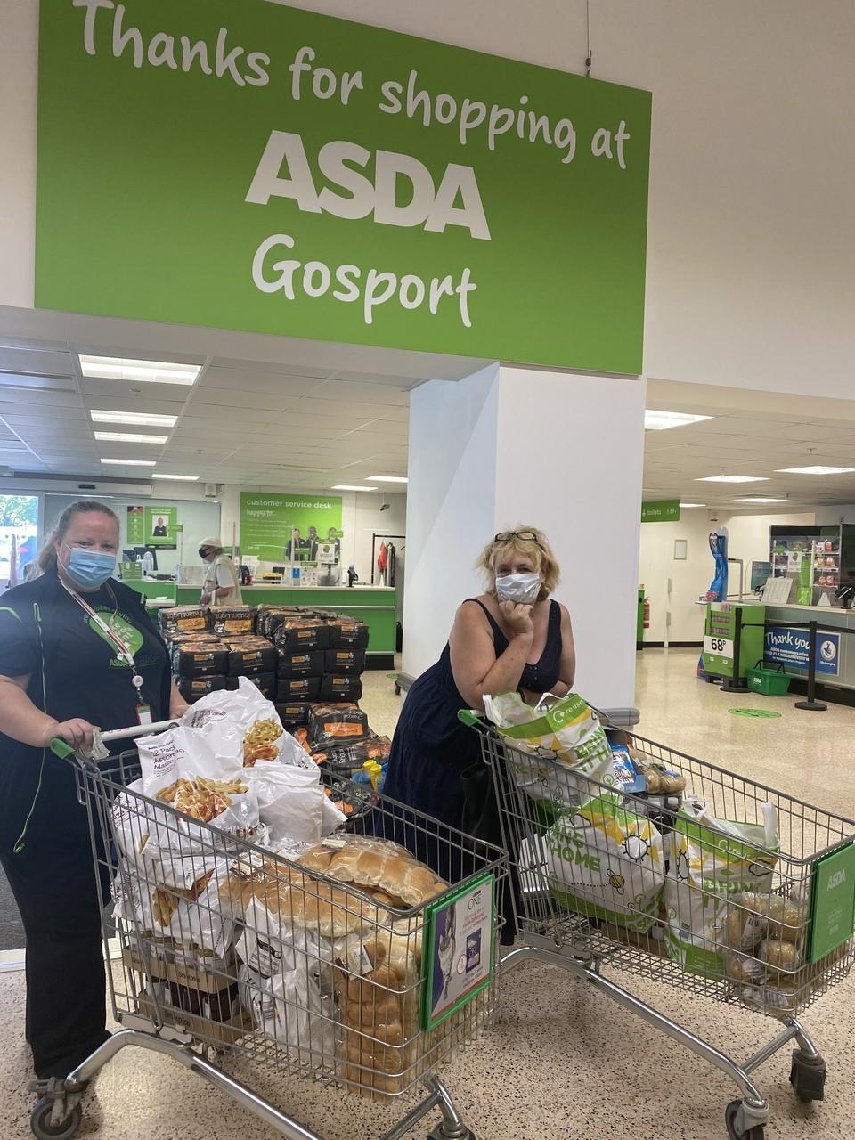 Crisis Food donation | Asda Gosport