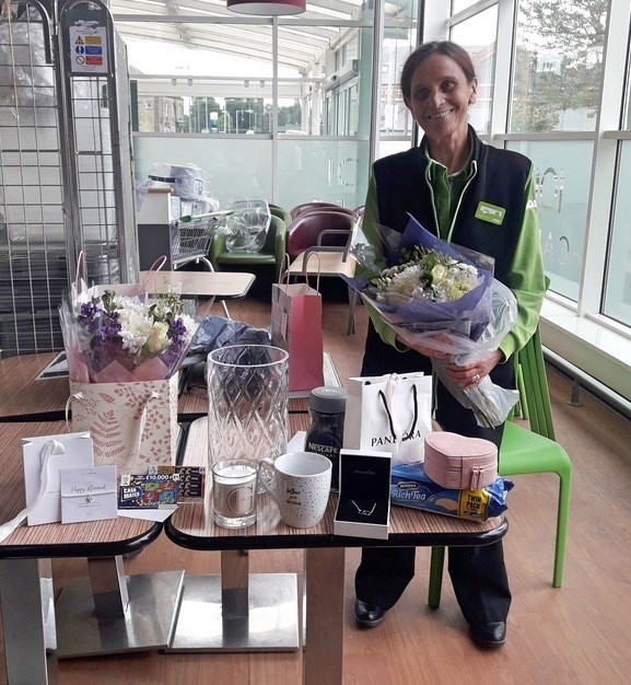 Goodbye to Bishop Auckland checkouts colleague Gillian | Asda Bishop Auckland