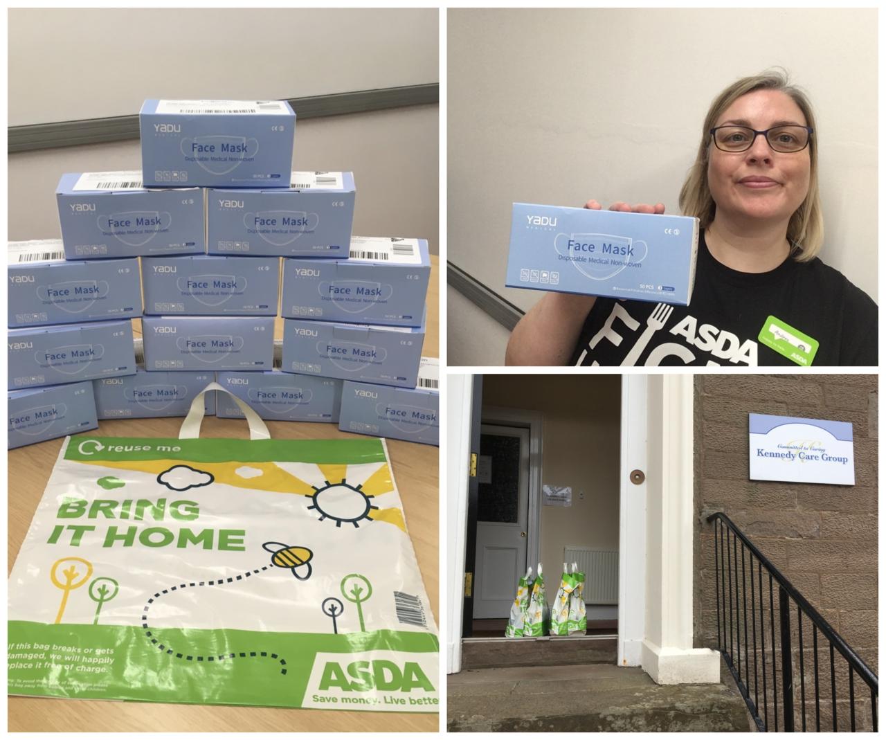 Donation of Face Masks to Angus Care Homes | Asda Forfar