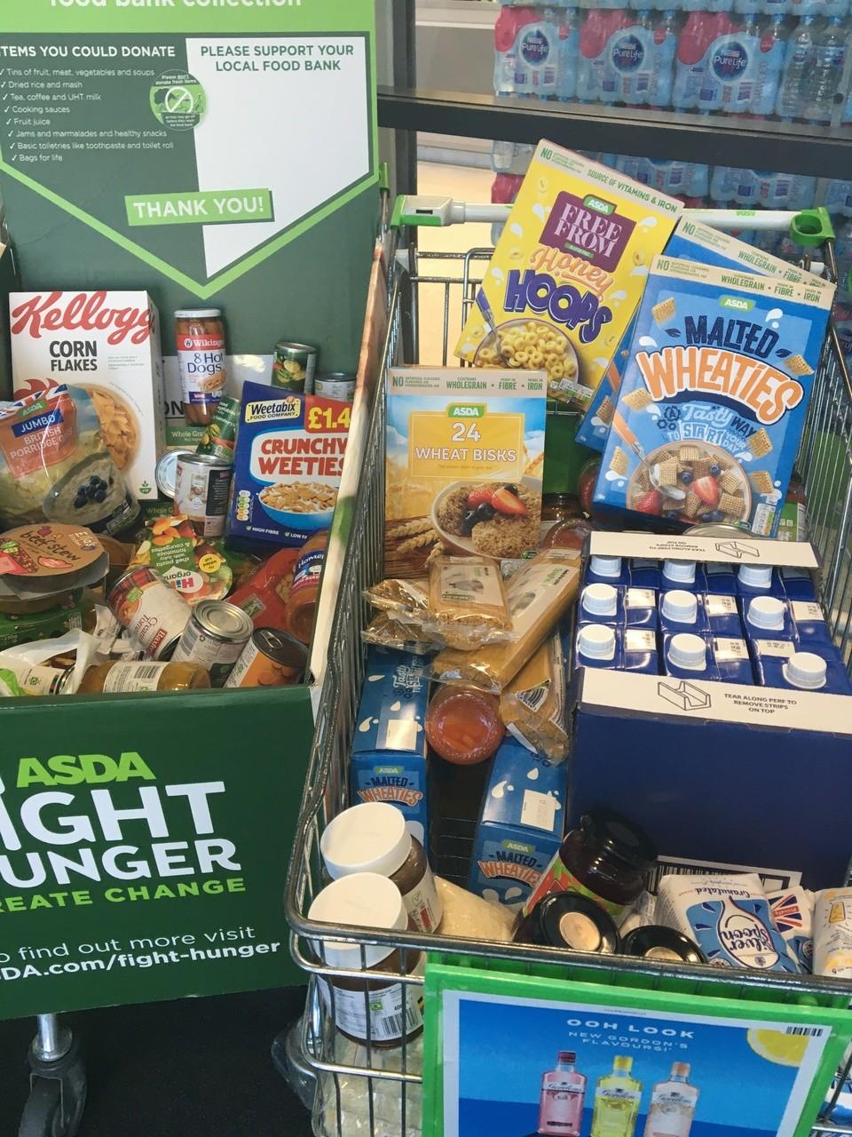 Donations to food bank local school and Hospital ward | Asda Swindon Haydon