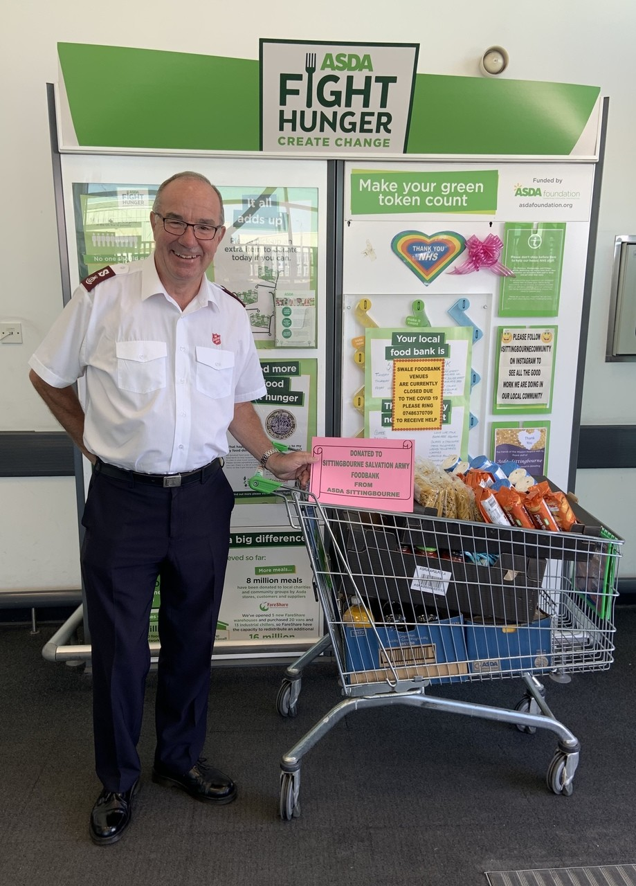 Sittingbourne Salvation Army Foodbank Donation | Asda Sittingbourne
