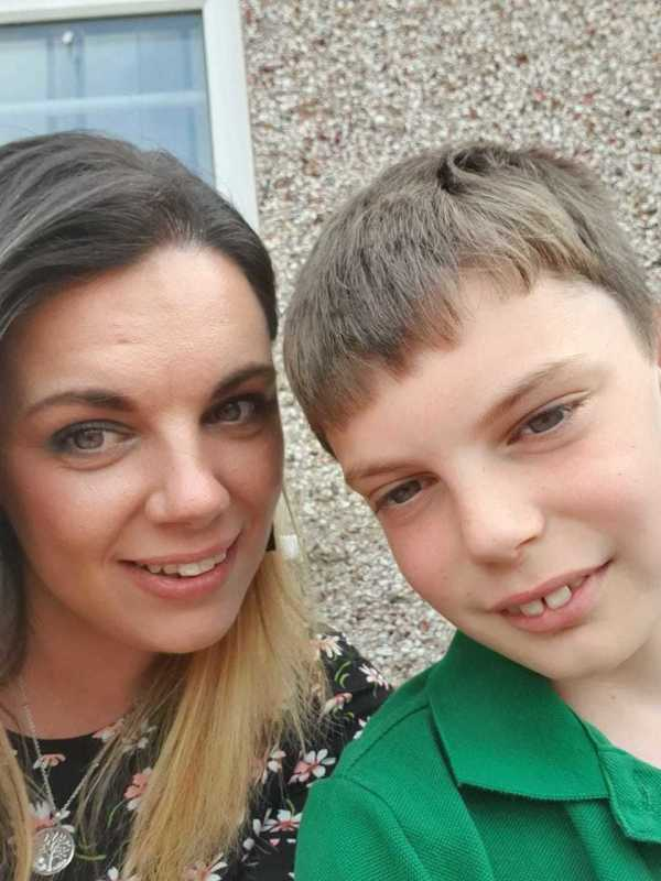 Michaela Gorman from Asda Whitehaven and her son Rio