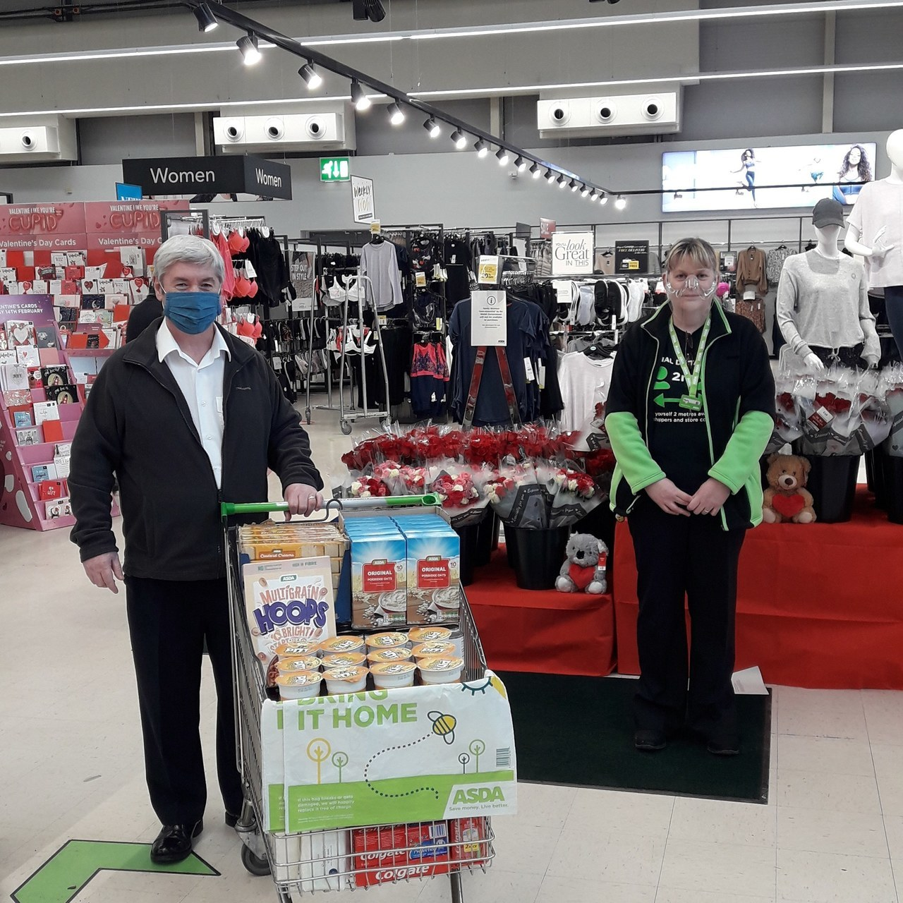 Food parcels for the community | Asda Wrexham