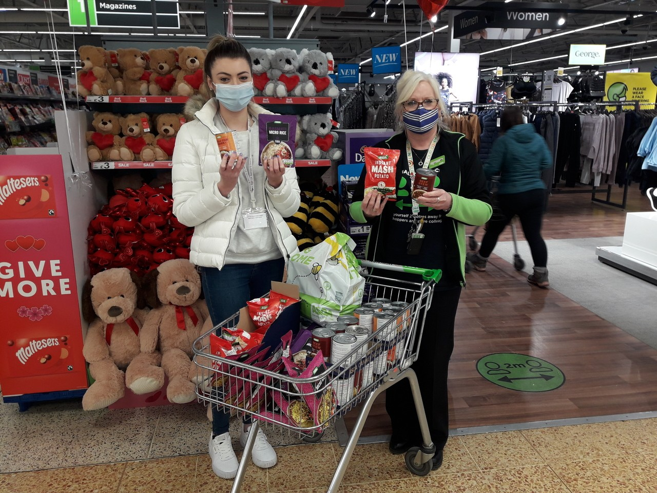 Asda and Age UK supporting the local community together.   Asda Barrow