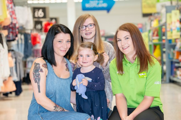 Violet MacIntosh is reunited with her lost Bunny at Asda Leith
