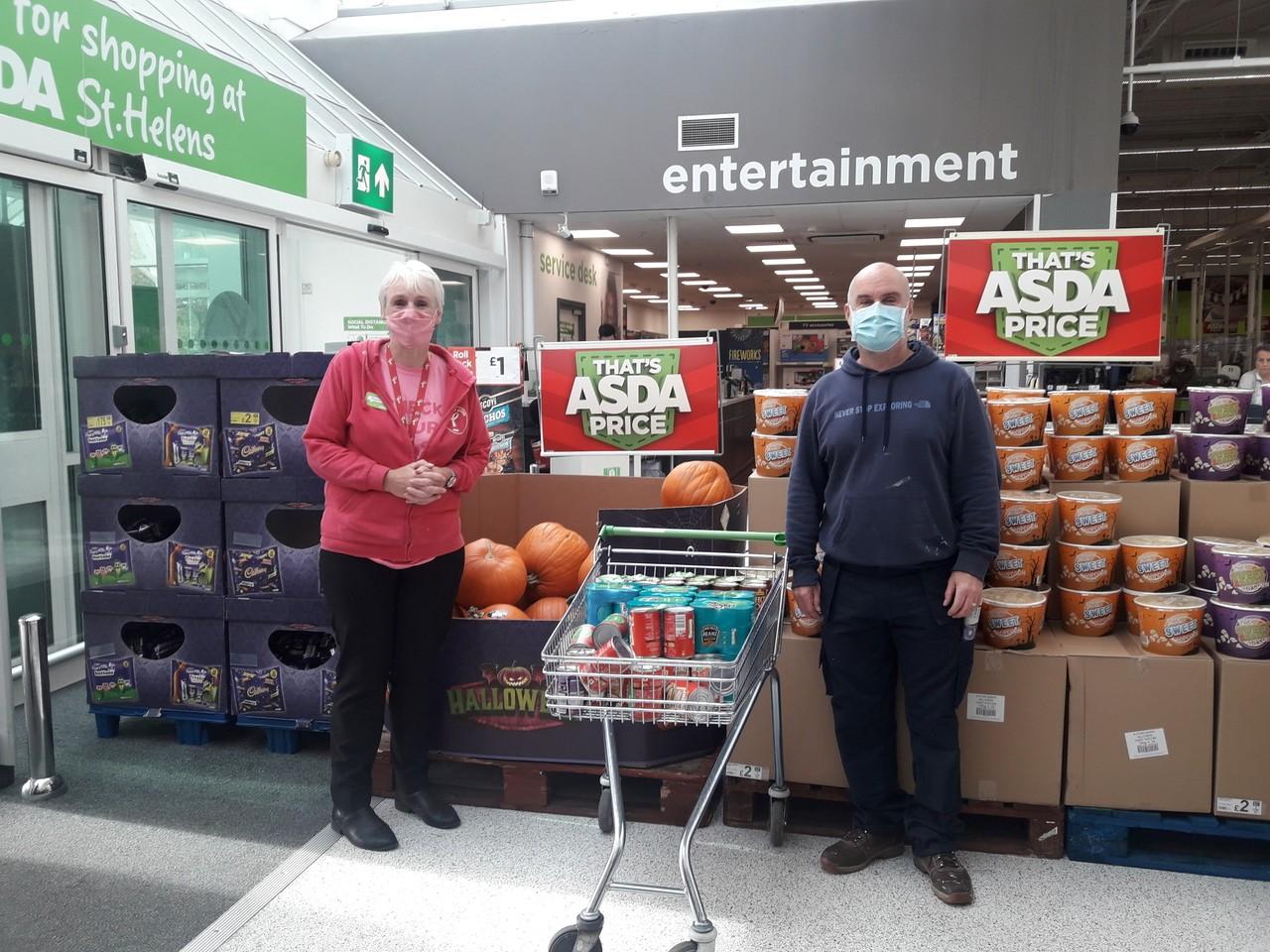 Salvation Army donation | Asda St Helens