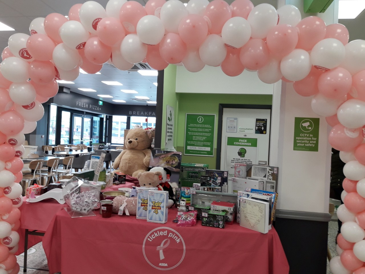 Tickled Pink tombola | Asda Runcorn