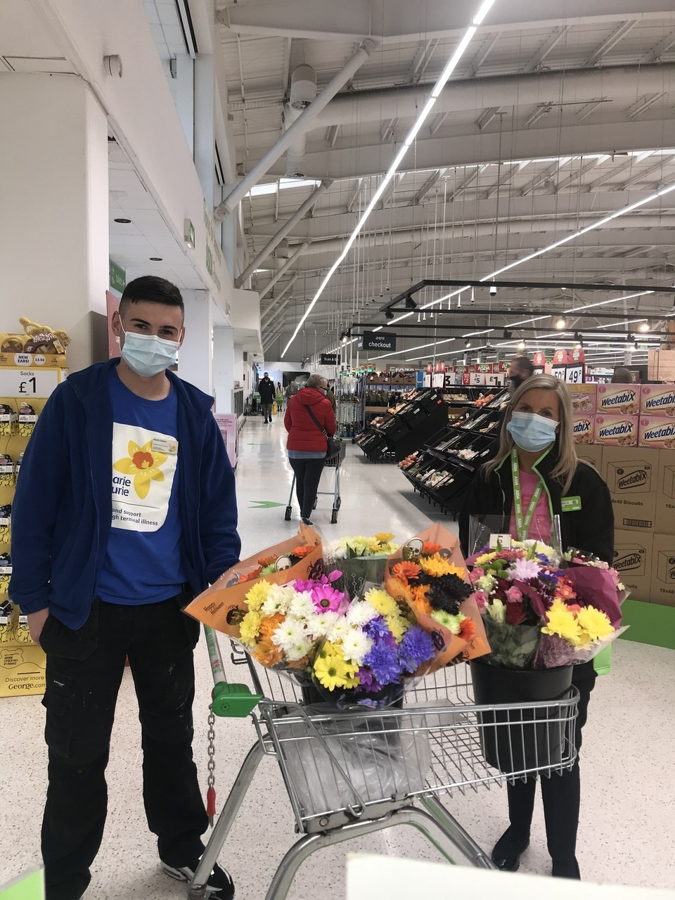 Flowers for Marie Curie Hospice | Asda Robroyston