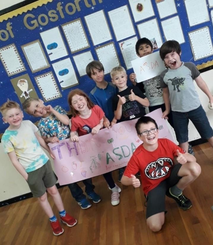 Gosforth Out of School club say thank you | Asda Gosforth