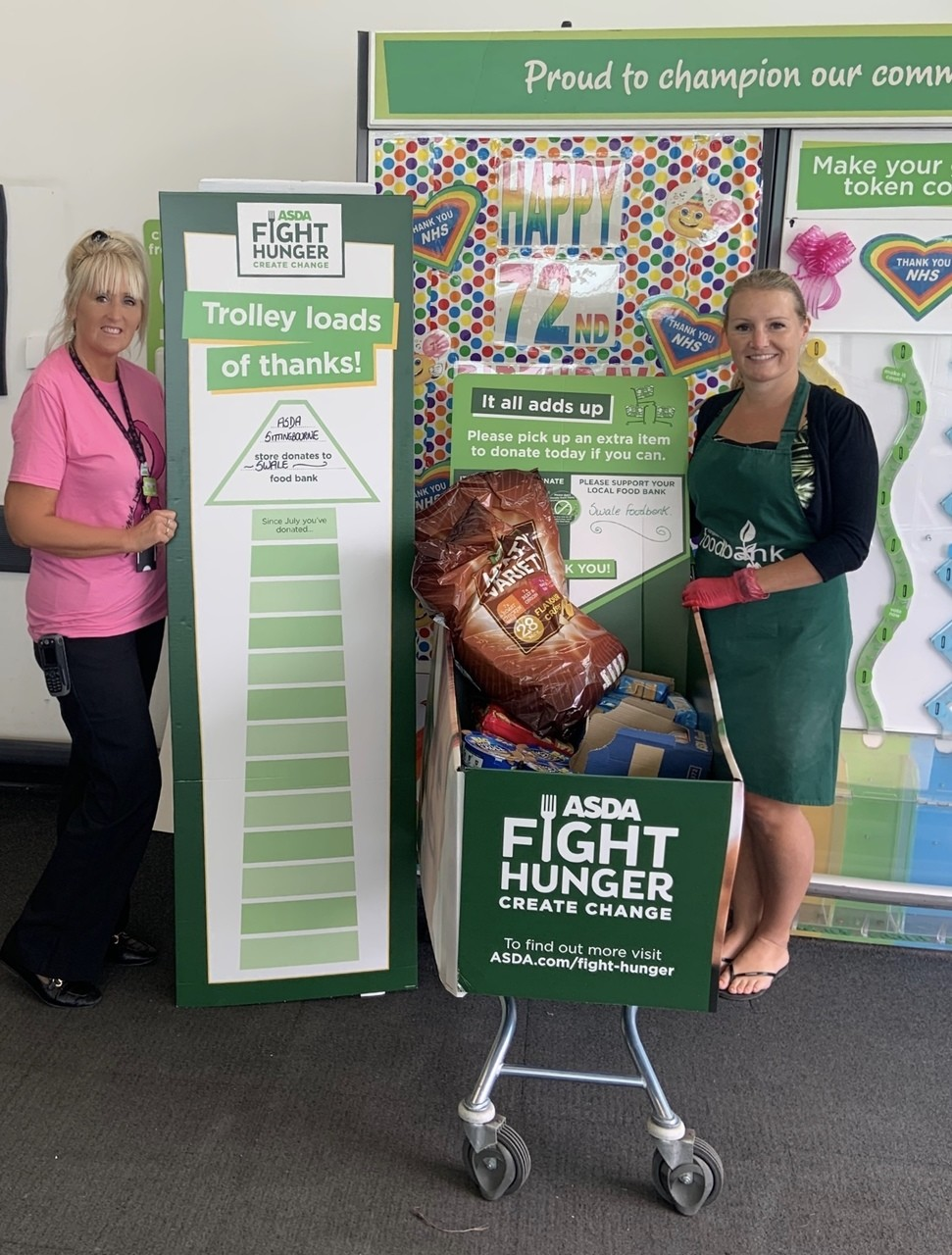"Asda Sittingbourne Lanches ""Fight Hunger Create Change"" Food Drive 