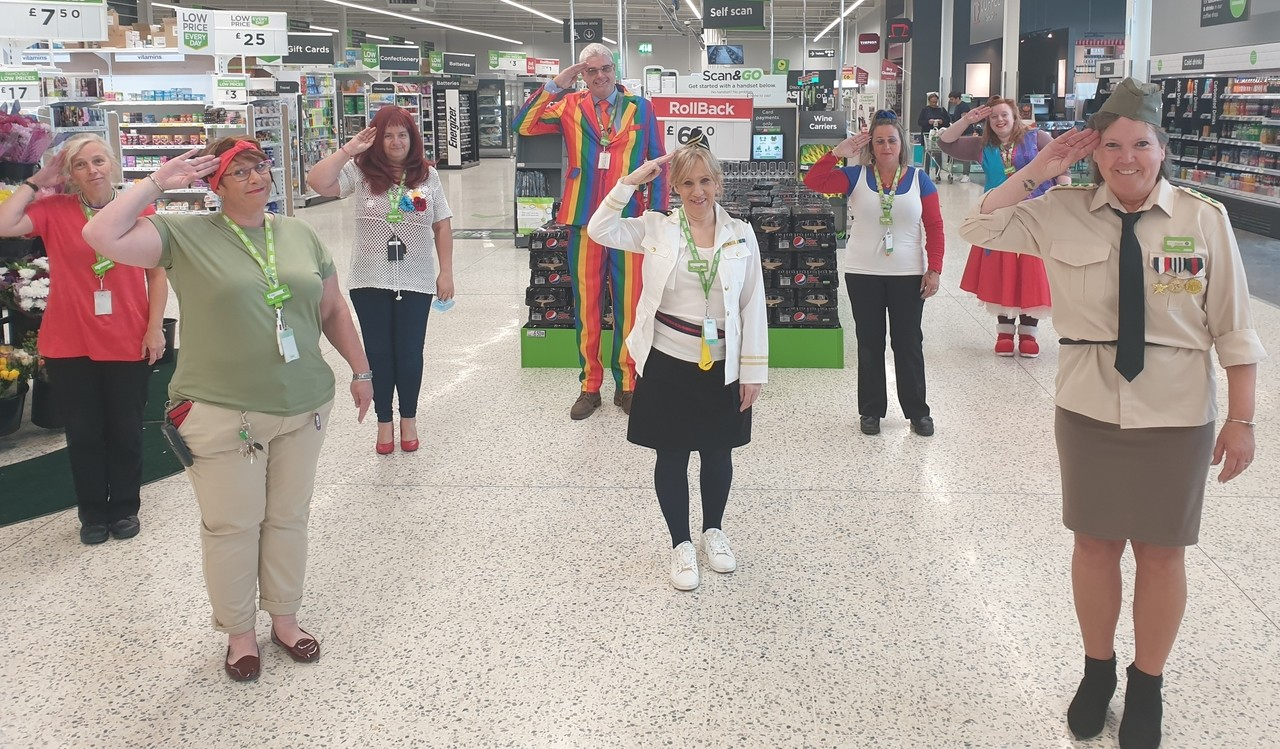 Marking VE Day  | Asda Newport Isle of Wight