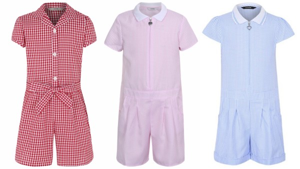 Gingham playsuits