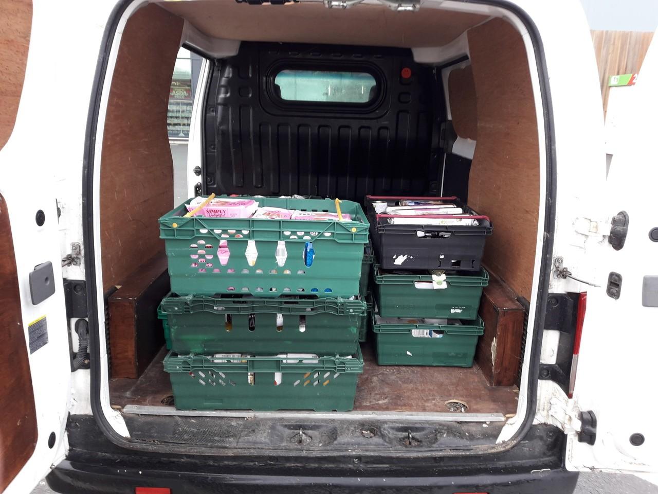 Shopping donation to food bank | Asda Barnstaple