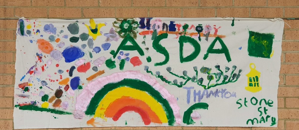 Stone St Mary Primary School's rainbow | Asda Greenhithe