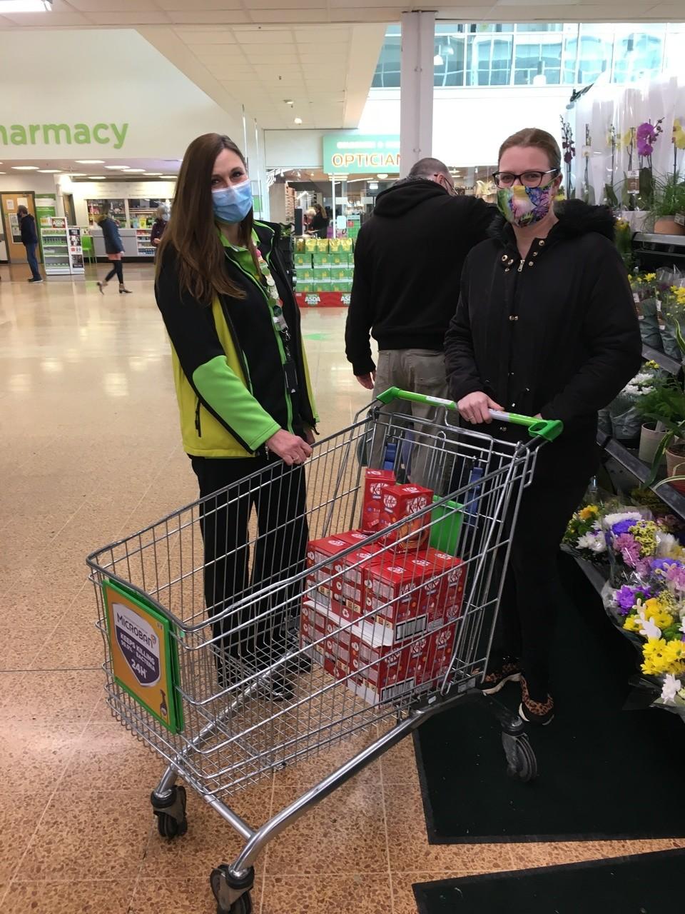 Easter egg donations for Cossham Gardens Leonard Cheshire care home . | Asda Longwell Green