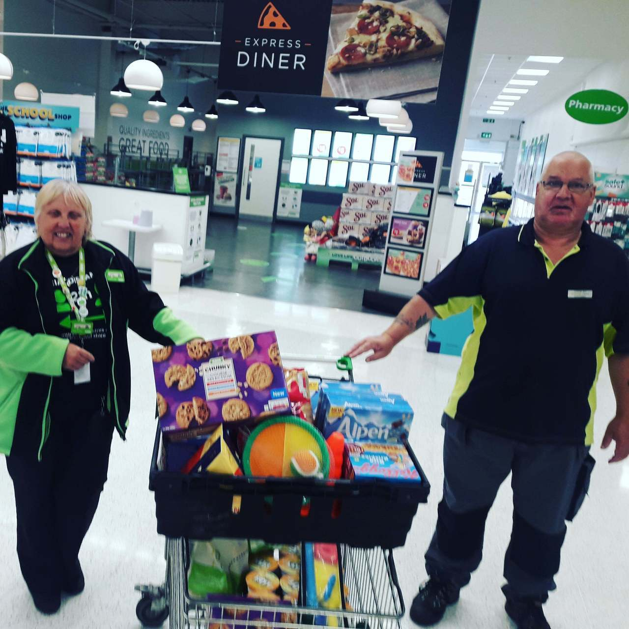 Donation to care home   Asda Thornaby