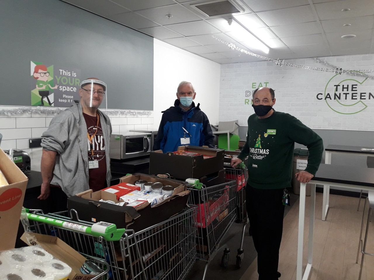 Foodbank donation | Asda Barnstaple