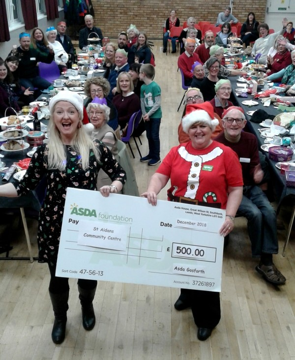 Asda Foundation Christmas grant to St Aidans community centre in Gosforth