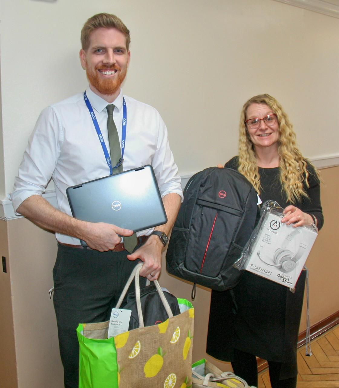 Laptop donation to Clacton County high school | Asda Clacton-on-Sea
