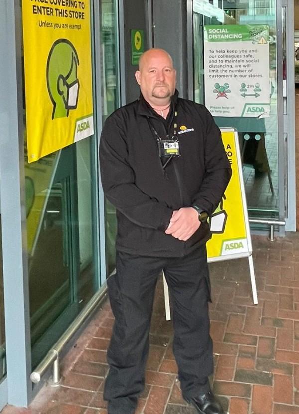 Asda Wythenshawe security guard Frank Reece