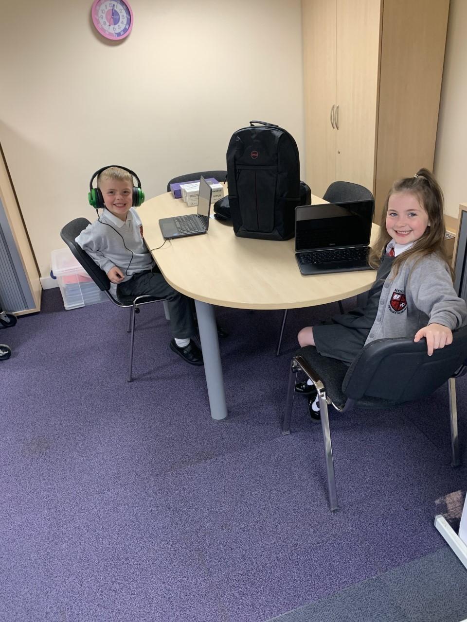 Mendell Primary School receives laptops | Asda Bromborough