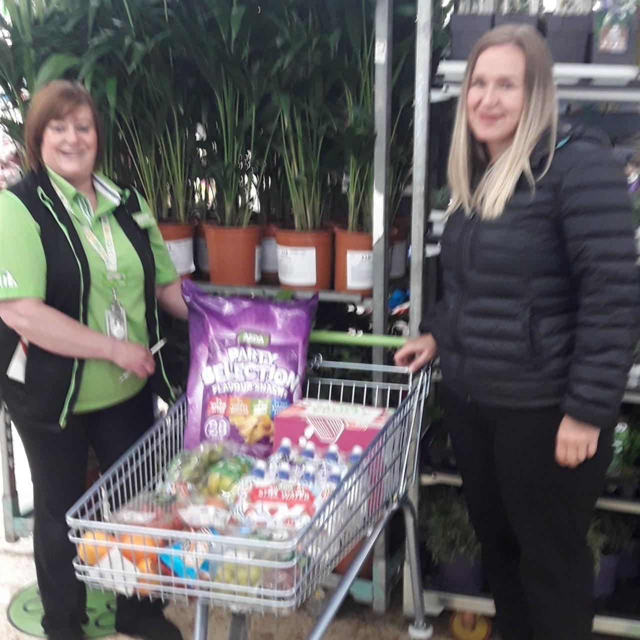 Donation to Cragside School | Asda Cramlington