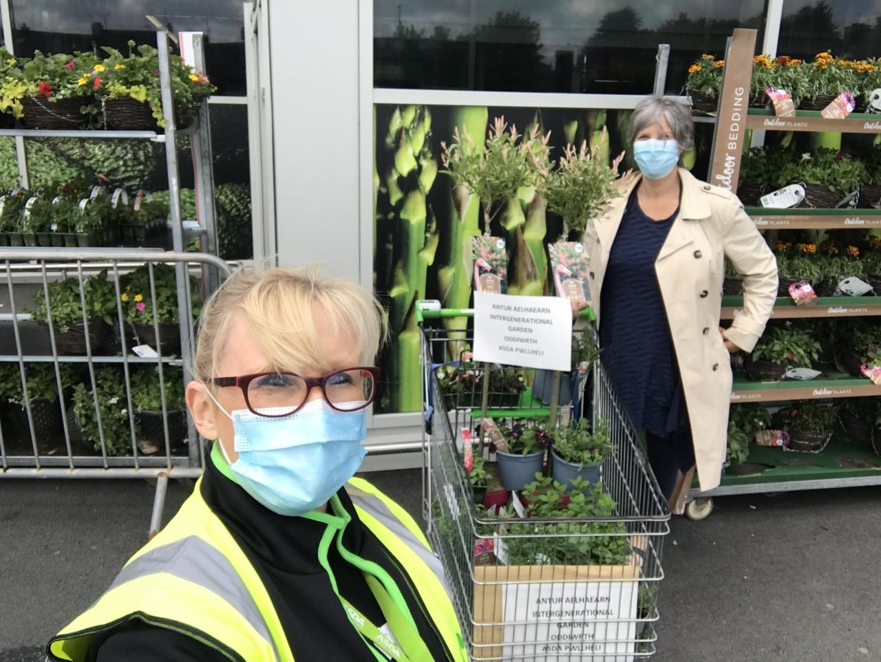 Donations to our local community garden | Asda Pwllheli