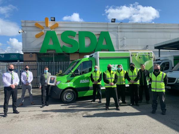 Asda Radcliffe van named after late colleague Leighton Hardy